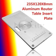 235 x 120 x 8mm Aluminum Router Table Insert Plate + Insert Ring Woodworking DIY