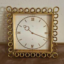 Ancienne horloge mécanique IMHOF à suspendre 16 cm sur 16 cm