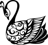 Printtoo Scrap-Buchung Swan Muster aus Holz Stempel Karte machen-6YS