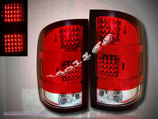 2007-2013 GMC SIERRA 1500/2500 LED TAIL LIGHTS RED/CLEAR NEW PAIR 07 - 13