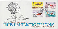 Ranulph FIENNES SIGNED Autograph FDC AFTAL COA First Day Cover British Explorer