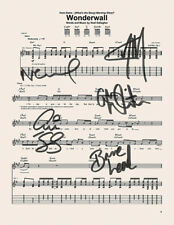Oasis - *RARE* Signed / Autographed  WONDERWALL MUSIC SHEET BEST SELLER ⭐⭐⭐⭐⭐754