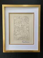 PABLO PICASSO +1962 SIGNED SUPERB ENGRAVING MATTED 11 X 14 + LIST $895