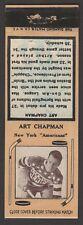 1934-36  DIAMOND MATCHBOOKS TYPE-2  ART CHAPMAN   INV A3041