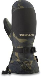 Dakine Leather Scout Snowboard Mitts Mens Large Cascade Camo w/ Removable Liners