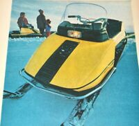 1970 Snowmobile Vintage Print Ad Starcraft Escort Goshen Indiana Winter Sports