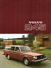 Volvo 245 Estate 1976-77 UK Market Sales Brochure DL DLE 240-Series