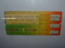 ROLLING STONES Concert Ticket Stub 11-10 1981 HARTFORD CT CIVIC CENTER Very Rare
