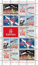 """VIGNETTES AERIENNES """"Airbus A380 Emirates Airlines - 1er Vol Dubaï-Moscou"""" 2012"""