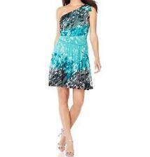 "Nine West Dress Sz 2 Parisian Green Multi "" Spring Fever"" Summer Cocktail Party"