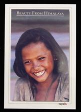 Postcard Face Child Nepal Tibet Mountains Himalaya 1607