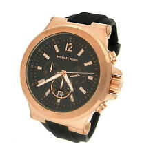 NEW MICHAEL KORS CHRONOGRAPH RUBBER MENS WATCH MK8184