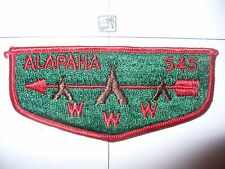 OA Alapaha 545,S-1a,1960,1st Solid Flap,353,98 Withlacoochee,Valdosta,Georgia,GA