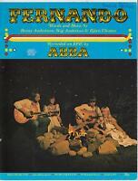 ABBA - Fernando - Rare 1976 UK 4-page Sheet Music