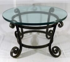ANTIQUE FRENCH IRON GUERIDON IN/OUTDOOR SIDE TABLE BASE
