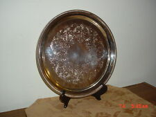 "INTERNATIONAL ""SILVERPLATE"" 12 1/4"" ROUND SERVING PLATTER/DETAILED/CLEARANCE!"