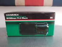 Hanimex One Touch Macro Zoom Camera Lens- Boxed- 80-200 mm F4.5