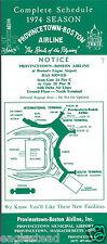 Airline Timetable - Provincetown-Boston - 1974 Season