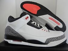 NIKE AIR JORDAN 3 RETRO WHITE-BLACK-CEMENT GREY-INFRARED 23 SZ 17 [136064-123]