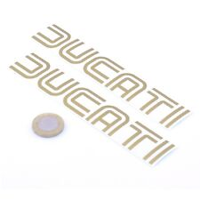 Ducati Stickers Gold Decal Vinyl Motorbike 150mm x2 Motorcycle Tank Fairing