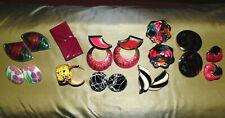 Vintage 1980s-Fabulous Summer Enamel Retro Fun Multicolor Dress Earrings Lot 10