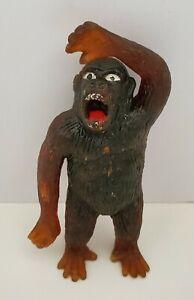 "Vintage Rubber Ape Gorilla Jiggler Animal Monster Hong Kong 4"" Figure Damaged"