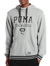 Men's PUMA Hooded Sweatshirt Hoodie Hoody Jumper Pullover Top - Grey M