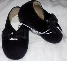 New Size 1 infant black mock velvet Mary Janes for infants, or reborns
