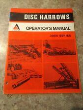 Allis Chalmers 3100 3200 3300 3400 Disks Original Operators Manual August 1973