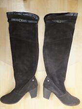 MEXX Damenschuhe Overknee Stiefel Leder Braun Gr 39 (UK6)