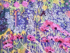 Liberty Silk Crepe 100%, 'Anna's Garden A' (per metre) dress fabric