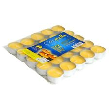 Set 25 Pezzi Candele Profumate Citronella Anti Zanzare Tealight Lumini dfh