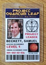 Quantum Leap Id Badge - Project Leader Samuel Beckett Cosplay costume