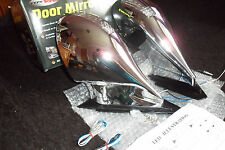 COPPIA di specchietti cromati per AUDI A3 96-00 completo kit di montaggio (base PIASTRE + cablaggio)