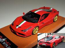 1/43 MR Ferrari 458 Speciale rosso corsa-italian strip-gold wheels Lmt 9 pcs