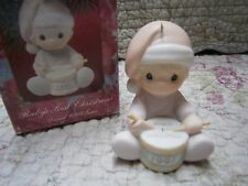 Precious Moments Ornament Babys First 1st Ornament 1991 Girl playing drum