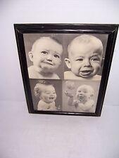 VINTAGE HUMOROUS & SAD FRAMED BABY PICTURE PRINTS