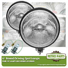 "6"" Roung Driving Spot Lamps for Peugeot 604. Lights Main Beam Extra"
