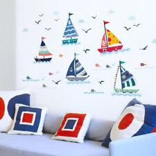 Vinilos infantiles decorativos velero y gaviotas en el mar DOCLIICK DC-SK7061-18