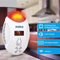 Digital Display Carbon Monoxide Detectors Voice Strobe CO Gas Carbon Alarm