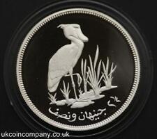 1976 Sudan Conservation Shoebill Stork Silver Proof 2.5 Pounds Coin & Cert