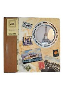 Brand New- New Adventure  4x6 World Map Travel Photo Album- Holds 160