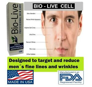 MEN Anti Wrinkle Bio Live Anti aging High Hydration Cream FOR Men Made in USA