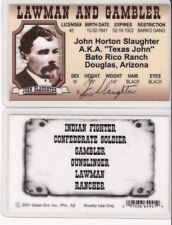 John Horton Slaughter TEXAS JOHN Douglas Arizona AZ Drivers License fake id card