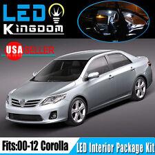 14X For Toyota Corolla 2013-2000 Car Interior LED Light Package Kit Combo White