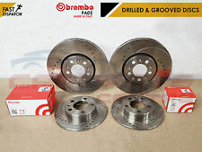 FOR GOLF AUDI TT A3 LEON IBIZA DRILLED & GROOVED BRAKE DISCS BREMBO PADS 288mm