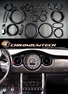 MK1 MINI Cooper/S/ONE R50 R52 R53 Carbon Fibre Look Interior Dashboard Trim Kit.