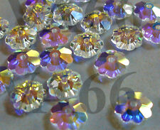 24p Swarovski Margaritas Daisy #3700 6mm Crystal AB Crystals Kristal Kelopak