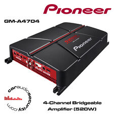 Pioneer gm-a4704 - 4-Channel Bridge AMPLIFICATORE 520w Altoparlanti o Sub Amp Nuovo