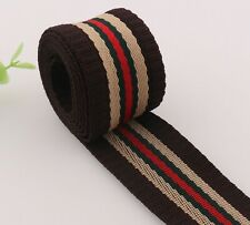 "10 Yards of Ribbon Nylon 3//8/"" wide Cocca-Au-Lait Vintage Satin Finish Active Ph"